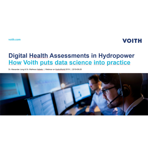 Digital Health Assessments in Hydropower - How Voith puts data science into practice