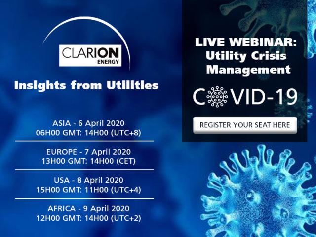 Live webinar series – COVID-19: Utility Crisis Management